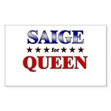 SAIGE for queen Rectangle Decal
