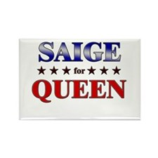 SAIGE for queen Rectangle Magnet