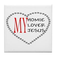 Homie Lover Jesus Tile Coaster