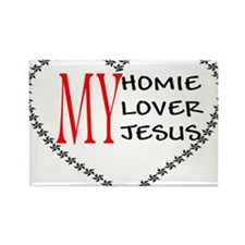 Homie Lover Jesus Rectangle Magnet