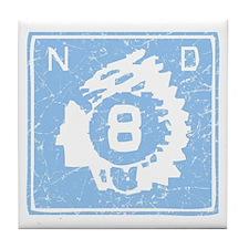 North Dakota Highway 8 Tile Coaster