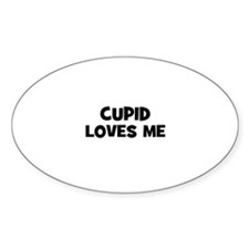 Cupid Loves Me Oval Decal