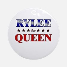 RYLEE for queen Ornament (Round)
