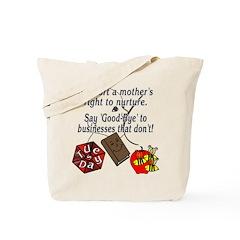 Support Breastfeeding moms, Goodbye... Tote Bag