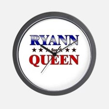 RYANN for queen Wall Clock