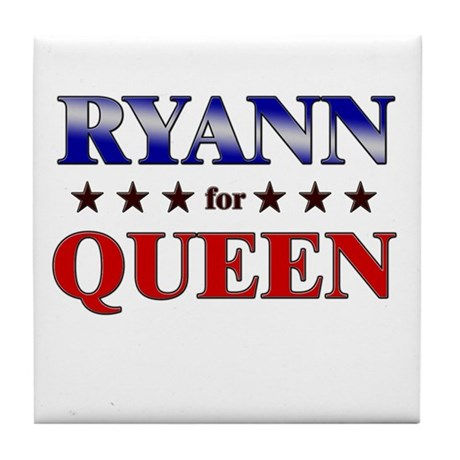 RYANN for queen Tile Coaster