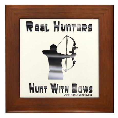 Bow Hunter Shirts Gifts Framed Tile