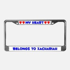 My Heart: Zachariah (#005) License Plate Frame