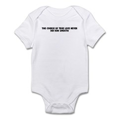 The course of true love never Infant Bodysuit