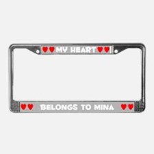 My Heart: Mina (#006) License Plate Frame