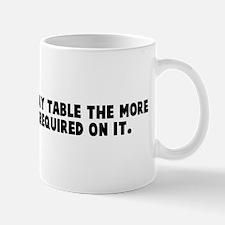 The colder the x ray table th Mug