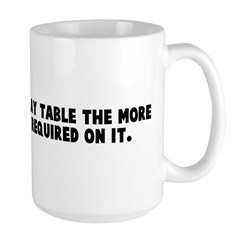 The colder the x ray table th Large Mug