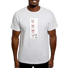 Kabuki Masks Ash Grey T-Shirt
