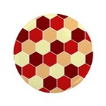 "Retro Scales Geometric Print 3.5"" Button (100 pack"