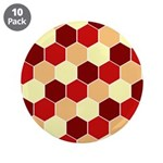 "Retro Scales Geometric Print 3.5"" Button (10 pack)"