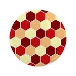 """Retro Scales Geometric Print 3.5"""" Button"""