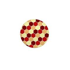Retro Scales Geometric Print Mini Button