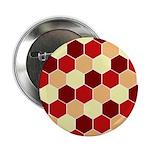 """Retro Scales Geometric Print 2.25"""" Button"""