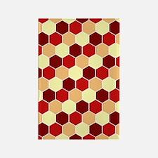 Retro Scales Geometric Print Rectangle Magnet