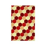 Retro Scales Geometric Print Rectangle Magnet (10
