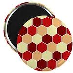 "Retro Scales Geometric Print 2.25"" Magnet (10 pack"