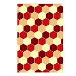 Retro Scales Geometric Print Postcards (Package of