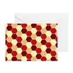 Retro Scales Geometric Print Greeting Cards (Pk of