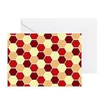 Retro Scales Geometric Print Greeting Cards (Pk of