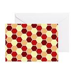 Retro Scales Geometric Print Greeting Card