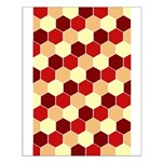 Retro Scales Geometric Print Small Poster