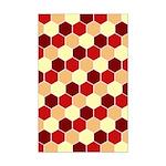 Retro Scales Geometric Print Mini Poster Print