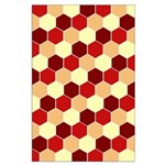 Retro Scales Geometric Print Large Poster