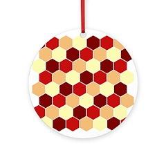 Retro Scales Geometric Print Ornament (Round)