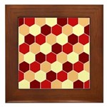Retro Scales Geometric Print Framed Tile