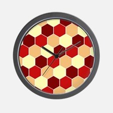 Retro Scales Geometric Print Wall Clock