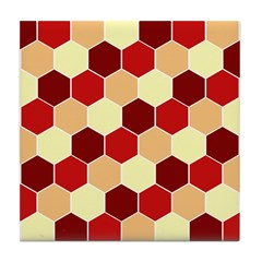 Retro Scales Geometric Print Tile Drink Coaster