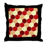 Retro Scales Geometric Print Throw Pillow