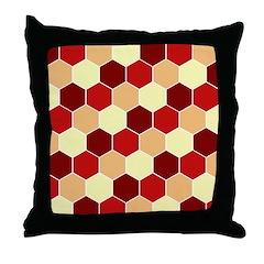 Retro Scales Geometric Print Throw Pillow