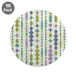 "Green & Purple Modern Christmas 3.5"" Button (10 pa"