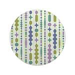 """Green & Purple Modern Christmas 3.5"""" Button"""