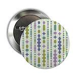 """Green & Purple Modern Christmas 2.25"""" Button"""