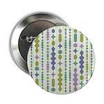"Green & Purple Modern Christmas 2.25"" Button (10 p"