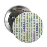 """Green & Purple Modern Christmas 2.25"""" Button (100"""