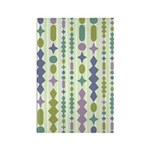 Green & Purple Modern Christmas Rectangle Magnet