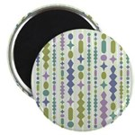 Green & Purple Modern Christmas Magnet