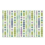 Green & Purple Modern Christmas Postcards (Package