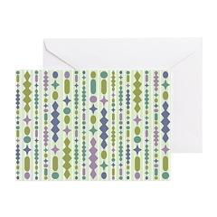 Green & Purple Modern Christmas Greeting Cards (Pk