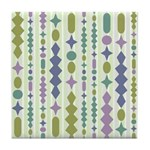 Green & Purple Modern Christmas Tile Drink Coa