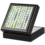 Green & Purple Modern Christmas Keepsake Box