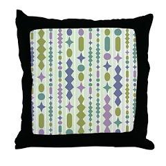 Green & Purple Modern Christmas Throw Pillow